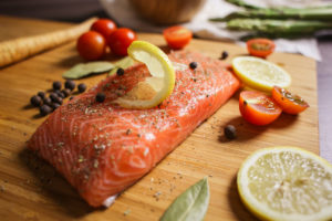 Preparing Salmon Steak
